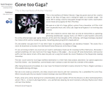 Gone too Gaga Redbrick University of Birmingham