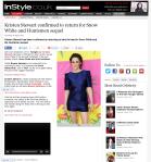 Kristen Stewart confirmed to return for Snow White and Huntsmen sequel InStyle UK