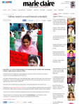 Taliban targets second feminist schoolgirl Marie Claire