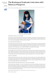 The Burlesque Graduate Interview with Rebecca Musgrove Redbrick University of Birmingham