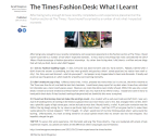 The Times Fashion Desk What I Learnt Redbrick University of Birmingham