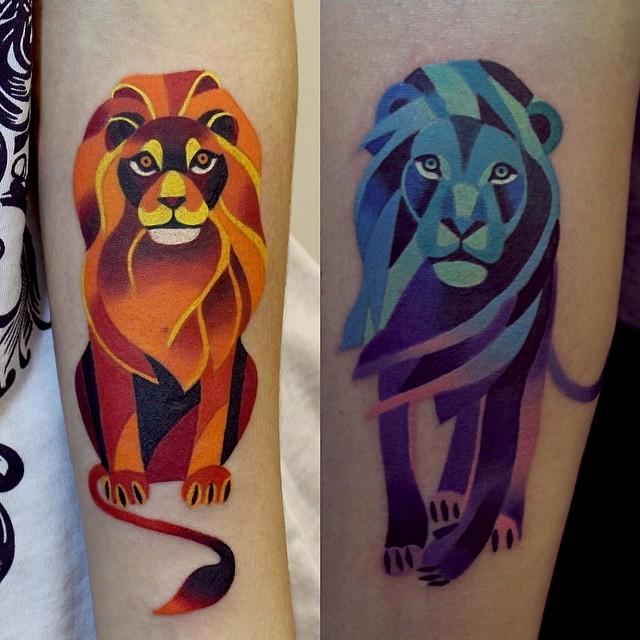 sasha-unisex-lion-couple-tattoo